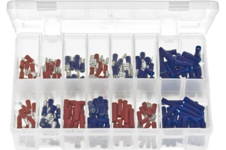 Assorted Box of Terminals Insulated - Red & Blue