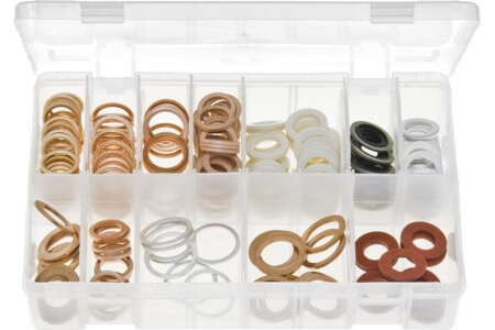 Assorted Box of Sump Plug Washers