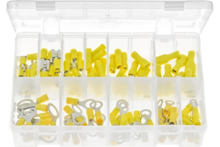Assorted Box of Terminals Insulated - Yellow