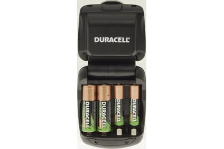 DURACELL '45 Minute' NiMH Charger  with 2 x AA & 2 x AAAA 'Duralock' Batteries