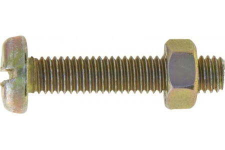 Machine Screws with Nuts, Pan Head, Slotted - Metric