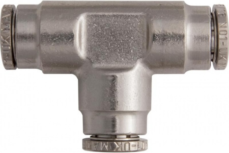 Brass Push-Fit Tube Couplings - Equal Tee, Metric