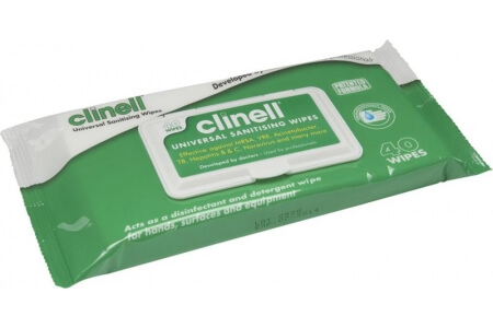 CLINELL Alcohol Free Universal Sanitising Wipes